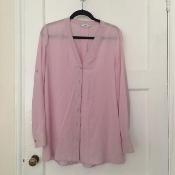 Vince Tops - Vince light blush pink silk button down top blouse